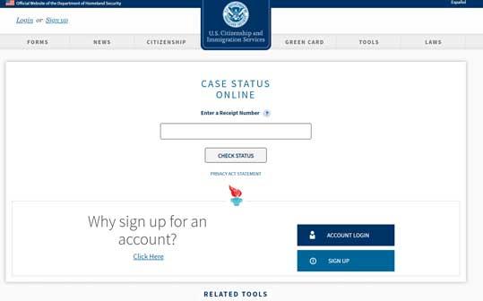 美国移民局官方查询网址